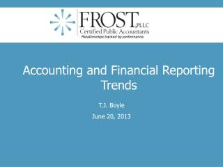 Accounting and Financial Reporting Trends