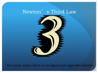 Newton ' s  Third Law