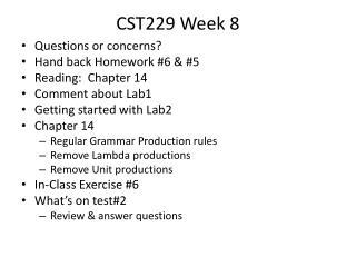CST229 Week  8