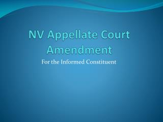 NV Appellate Court Amendment
