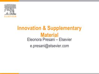 Innovation & Supplementary Material