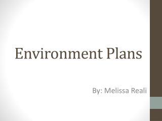 Environment Plans