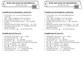Ecrire sans erreur les homophones :  la,  là,  l'a,  l'as