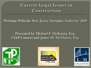 Current Legal Issues in Construction