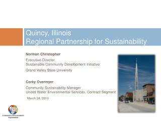 Quincy, Illinois Regional Partnership for Sustainability