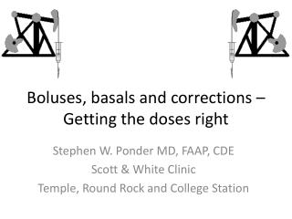 Boluses, basals and corrections – Getting the doses right