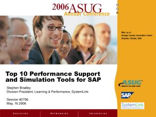 Top 10 Performance Support and Simulation Tools for SAP