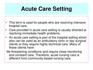 Introduction to Community Health Nursing