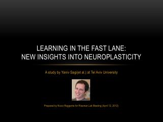 Learning In the fast lane:  new insights into neuroplasticity