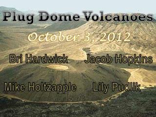 Plug Dome Volcanoes
