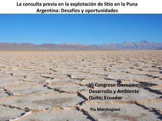 La consulta previa en la explotación de litio en la Puna Argentina: Desafíos y oportunidades