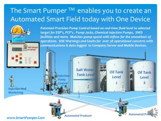 The Smart  Pumper  TM  enables you to create an Automated Smart Field today with One Device