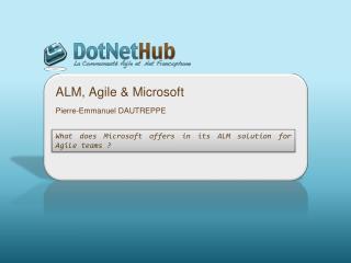 ALM, Agile & Microsoft