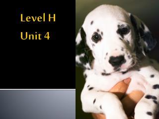 Level H Unit 4