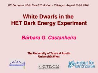 White Dwarfs in the  HET Dark Energy Experiment