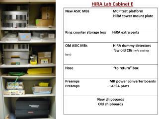 HiRA Lab  Cabinet E
