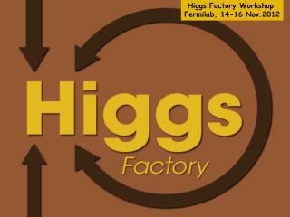 Higgs Factory  Workshop  Fermilab , 14-16 Nov.2012