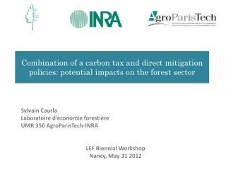 Sylvain  Caurla Laboratoire d'économie forestière UMR 356  AgroParisTech -INRA