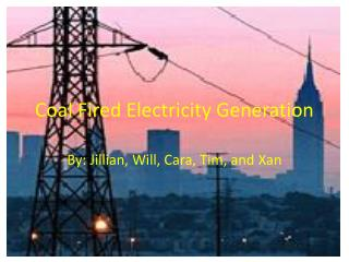 Coal Fired Electricity Generation