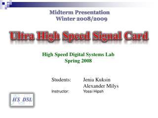 Ultra High Speed Signal Card