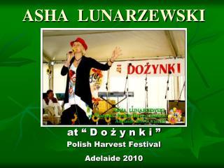 ASHA  LUNARZEWSKI