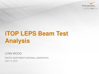 iTOP LEPS Beam Test Analysis