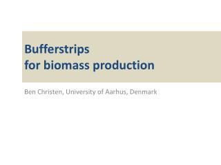 Bufferstrips for  biomass production