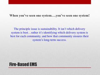 Fire-Based EMS