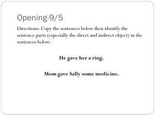 Opening-9/5