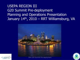 G20 Summit declared NSSE: National Special Security Event DHS