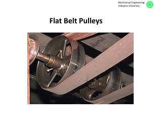 Flat Belt Pulleys