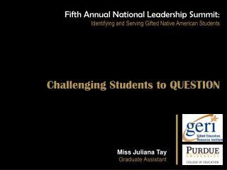 Miss Juliana  Tay Graduate Assistant
