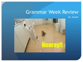 Grammar Week Review