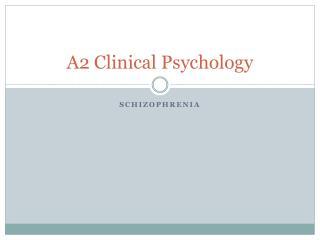 A2  Clinical Psychology