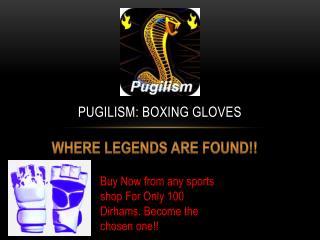 Pugilism: Boxing Gloves
