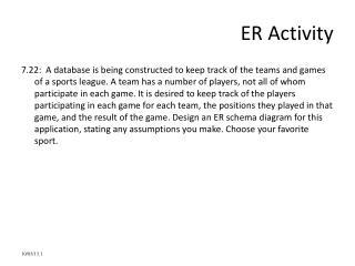 ER Activity