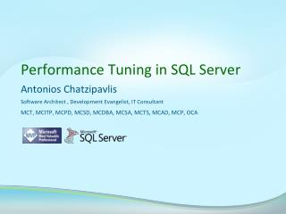 Performance Tuning in SQL Server