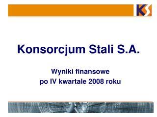 Konsorcjum Stali S.A.