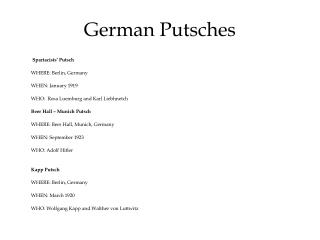 German Putsches