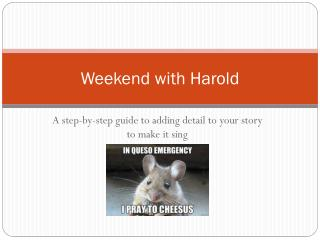 Weekend with Harold