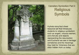 Cemetery  Symbolism Part 4   Religious Symbols