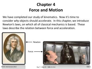 Chapter 4 Force and Motion
