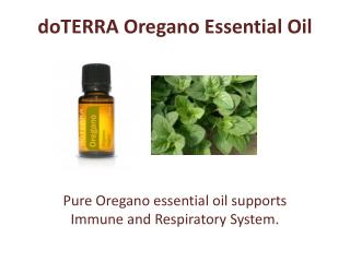 Get doTERRA Oregano Essential Oil Today