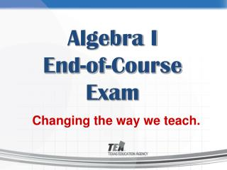 Algebra I  End-of-Course Exam