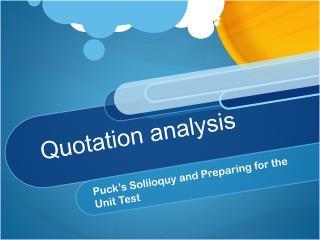 Quotation analysis