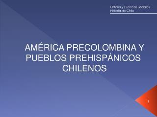 AMÉRICA PRECOLOMBINA Y PUEBLOS PREHISPÁNICOS  CHILENOS