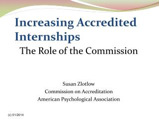 Increasing Accredited Internships