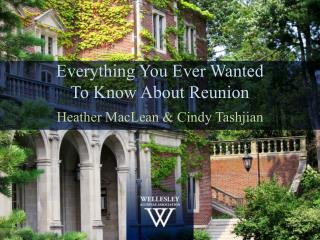 Everything You Ever Wanted  To Know About Reunion