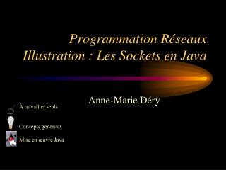 Programmation R seaux Illustration : Les Sockets en Java