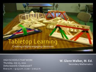 Tabletop Learning
